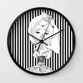 Namaste   Painting by Elisavet #society6 Wall Clock