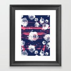 Roses & Skulls Framed Art Print
