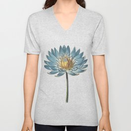 Blue Egyptian water lily Unisex V-Neck