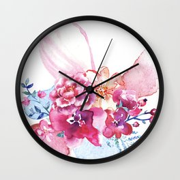 Bouquet of Flowers Wall Clock