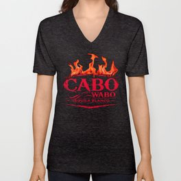 Cabo Wabo Tequila Red Chili Fire Logo Unisex V-Neck