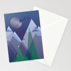 Christmas Night Alpine Flight Stationery Cards