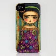 Frida In A Purple And Blue Dress iPhone (4, 4s) Slim Case