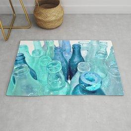 Aqua Bottles Rug