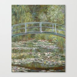 Water Lily Pond (Japanese Bridge) Canvas Print