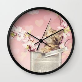 sweet kitty Wall Clock