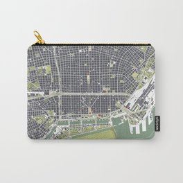 Buenos aires city map engraving Carry-All Pouch