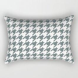 Grey, Steel: Houndstooth Checkered Pattern Rectangular Pillow