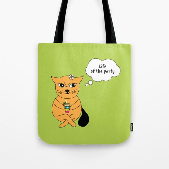 Beatrice. The cat that thinks... Party Tote Bag