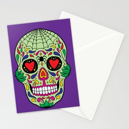 Colorful Skull VI Stationery Cards