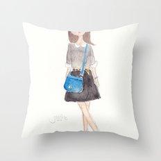 Peter Pan Collar Throw Pillow
