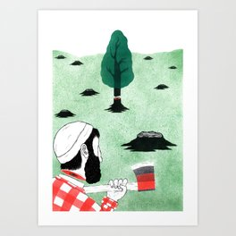 Man & Nature - The Double-Edged Relationship Art Print
