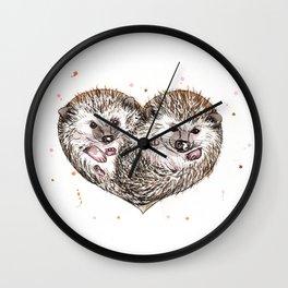 hedgehog love Wall Clock