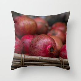 Pomegranate basket 2 Throw Pillow