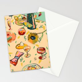 COCKTAILS IN THE GARDEN Stationery Cards