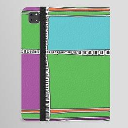 Bright plaids iPad Folio Case