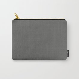 Dark Grey Solid Color Accent Shade / Hue Matches Sherwin Williams Grizzle Gray SW 7068 Carry-All Pouch