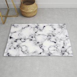 Modern Black White Designer Marble Pattern Rug