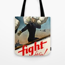 Fight let's go ! Join the Navy Tote Bag