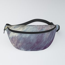 Blue Black and Purple Streaks Abstract Fanny Pack