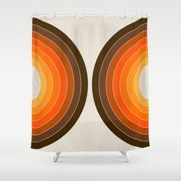Golden Sonar Shower Curtain