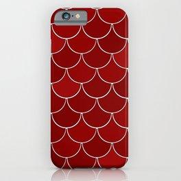 Geranium Red Dragon Scales pattern iPhone Case