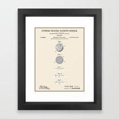 Golf Ball Patent Framed Art Print
