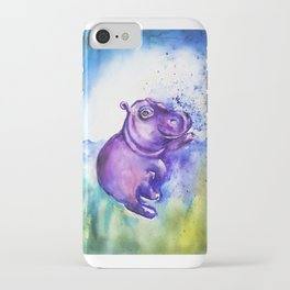 Fiona the Hippo - Splashing around iPhone Case