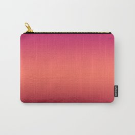 Living Coral Pink Peacock Jester Red Gradient Ombre Pattern Carry-All Pouch