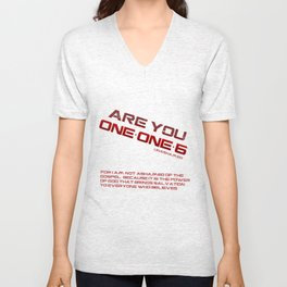 Are you One-One-6 White Unisex V-Neck