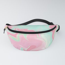 Shabby Chic Design in Pink and Pastel Aqua-Green Fanny Pack