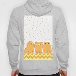 Cute Animals Art, Pet Animals Design Art with Dog, Pig and Cat Hoody