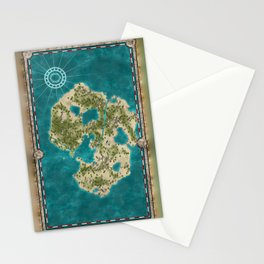 Pirate Adventure Map Stationery Cards