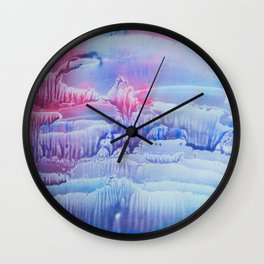 blue underwater world 3 Wall Clock
