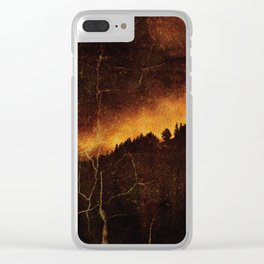 Burning City Clear iPhone Case