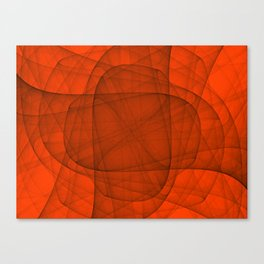 Fractal Eternal Rounded Cross in Red Canvas Print