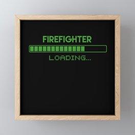 Firefighter Loading Framed Mini Art Print