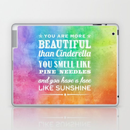 Sunshine Face Laptop & iPad Skin