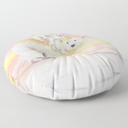 Polar Bear Family Floor Pillow