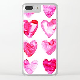 Heart Speckle Clear iPhone Case