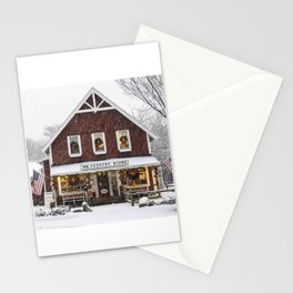 Classic Country Store Christmas Scene Stationery Cards