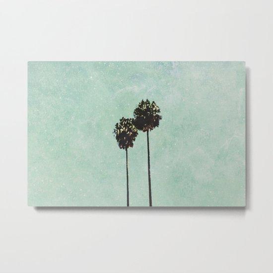 Brisbane Palm Trees Metal Print