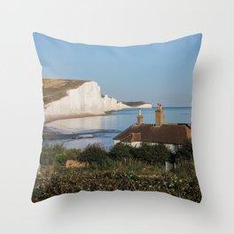Coastguard Cottage Throw Pillow