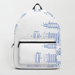 Harmonica Vintage Patent Hand Drawing Backpack