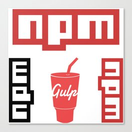 4 npm gulp package manager web developer programming stickers Canvas Print