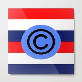 copyright usa Metal Print