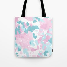 Cruz - abstract painting pastel pink and blue minimal modern decor for office home Tote Bag