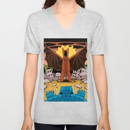 Kaiju Battle! Unisex V-Neck