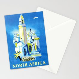 North Africa Vintage Travel Poster Islamic Moroccan Architecture Stationery Cards