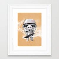 storm trooper Framed Art Prints featuring STORM TROOPER by Leoren
